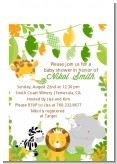 Jungle Party - Baby Shower Petite Invitations