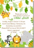 Jungle Party - Baby Shower Invitations