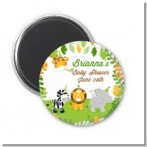 Jungle Party - Personalized Baby Shower Magnet Favors