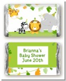 Jungle Party - Personalized Baby Shower Mini Candy Bar Wrappers