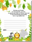 Jungle Party - Baby Shower Notes of Advice