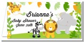 Jungle Party - Personalized Baby Shower Place Cards