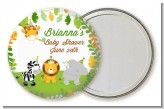 Jungle Party - Personalized Baby Shower Pocket Mirror Favors