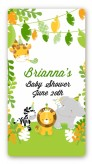 Jungle Party - Custom Rectangle Baby Shower Sticker/Labels