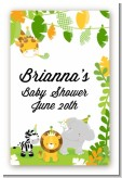 Jungle Party - Custom Large Rectangle Baby Shower Sticker/Labels