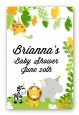 Jungle Party - Custom Large Rectangle Baby Shower Sticker/Labels thumbnail