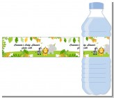 Jungle Party - Personalized Baby Shower Water Bottle Labels