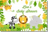 Jungle Party - Personalized Baby Shower Placemats
