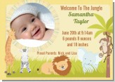 Jungle Safari Party - Birth Announcement Photo Card