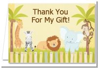Jungle Safari Party - Birthday Party Thank You Cards