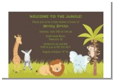 Jungle Safari Party - Baby Shower Petite Invitations