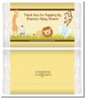Jungle Safari Party - Personalized Popcorn Wrapper Baby Shower Favors