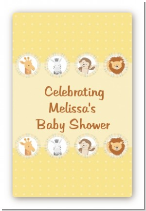 Jungle Safari Party - Custom Large Rectangle Baby Shower Sticker/Labels