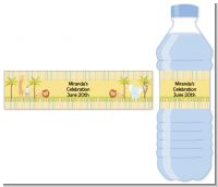 Jungle Safari Party - Personalized Baby Shower Water Bottle Labels