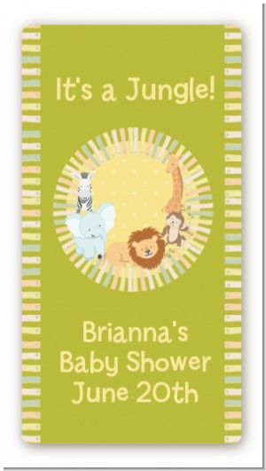 Jungle Safari Party - Custom Rectangle Baby Shower Sticker/Labels