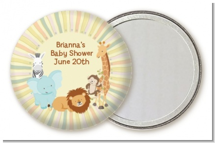 Jungle Safari Party - Personalized Baby Shower Pocket Mirror Favors