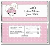 Just Married - Personalized Bridal Shower Candy Bar Wrappers
