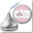 Just Married - Hershey Kiss Bridal Shower Sticker Labels thumbnail
