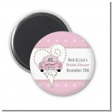 Just Married - Personalized Bridal Shower Magnet Favors