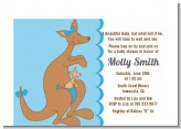 Kangaroo Blue - Baby Shower Petite Invitations