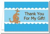 Kangaroo Blue - Baby Shower Thank You Cards