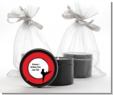 Karate Kid - Birthday Party Black Candle Tin Favors