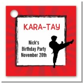 Karate Kid - Personalized Birthday Party Card Stock Favor Tags