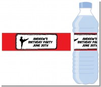 Karate Kid - Personalized Birthday Party Water Bottle Labels