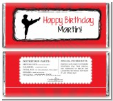 Karate Kid - Personalized Birthday Party Candy Bar Wrappers