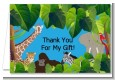 King of the Jungle Safari - Baby Shower Thank You Cards thumbnail