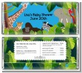King of the Jungle Safari - Personalized Baby Shower Candy Bar Wrappers thumbnail