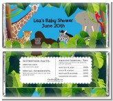 King of the Jungle Safari - Personalized Baby Shower Candy Bar Wrappers
