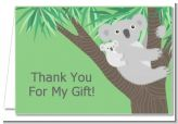 Koala Bear - Baby Shower Thank You Cards