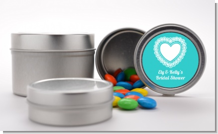 Lace of Hearts - Custom Bridal Shower Favor Tins
