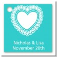 Lace of Hearts - Personalized Bridal Shower Card Stock Favor Tags thumbnail