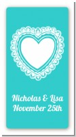 Lace of Hearts - Custom Rectangle Bridal Shower Sticker/Labels