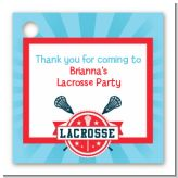 Lacrosse - Personalized Birthday Party Card Stock Favor Tags