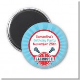 Lacrosse - Personalized Birthday Party Magnet Favors
