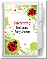 Ladybug - Baby Shower Personalized Notebook Favor