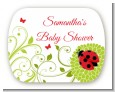 Ladybug - Personalized Baby Shower Rounded Corner Stickers thumbnail