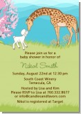 Lamb & Giraffe - Baby Shower Invitations