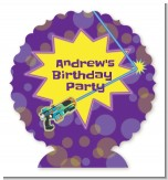 Laser Tag - Personalized Birthday Party Centerpiece Stand