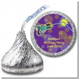Laser Tag - Hershey Kiss Birthday Party Sticker Labels
