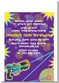 Laser Tag - Birthday Party Petite Invitations