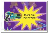 Laser Tag - Birthday Party Thank You Cards