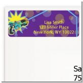 Laser Tag - Birthday Party Return Address Labels