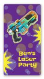 Laser Tag - Custom Rectangle Birthday Party Sticker/Labels