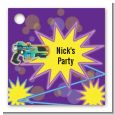 Laser Tag - Personalized Birthday Party Card Stock Favor Tags thumbnail