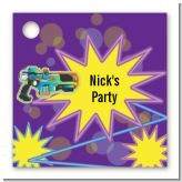 Laser Tag - Personalized Birthday Party Card Stock Favor Tags