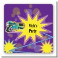 Laser Tag - Square Personalized Birthday Party Sticker Labels thumbnail